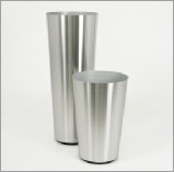 Conica stainless steel planter
